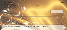 Abstract Black Gold Personal Checks