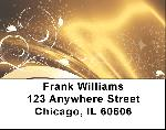 Abstract Black Gold Address Labels $ 5.99