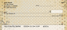 Antique Dots Personal Checks