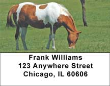 Grazing Green Pastures Horse Address Labels