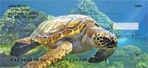 Swimming Sea Turtles Personal Checks