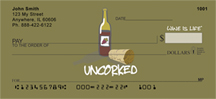 Uncorked Wine Is Life Personal Checks