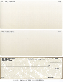 Tan Marble Voucher Checks Bottom Style