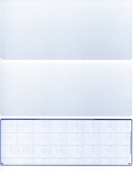 Blue Safety Blank Voucher Checks Bottom Style
