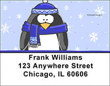 Jen Goode's Penguins Address Labels