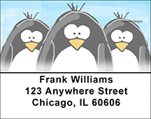 Jen Goode's Chilly Penguins Address Labels