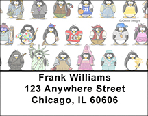 Jen Goode's Penguin Personalities Address Labels