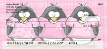 Jen Goode's Ribbon Penguins Personal Checks