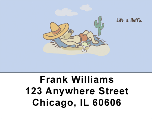Life Is Ruff Relaxing Address Labels