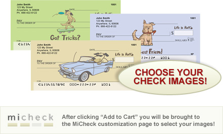 MiCheck Life is Ruff Personal Checks