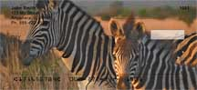Zebras At Sunset Personal Checks