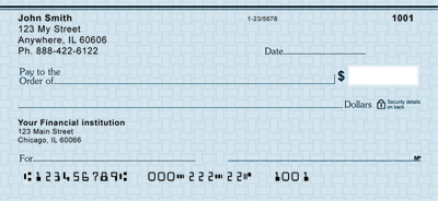 Blue Safety  Personal Checks