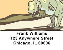 Cute & Friendly Dinosaurs Address Labels
