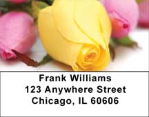 Spring Rose Bouquet Address Labels