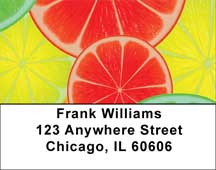 Citrus In Technocolor Address Labels
