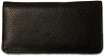 Black Leather Checkbook Cover $ 11.99