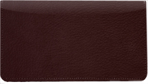 Burgundy Leather Checkbook Cover $ 11.99