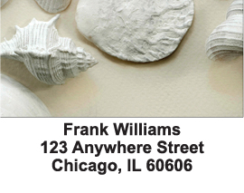 Perfectly White Shells Address Labels