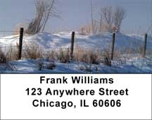 Barbed Wire Fence Posts Address Labels