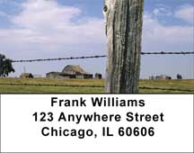 Barbed Wire Fences Address Labels