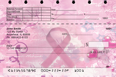 Breast Cancer Top Stub Personal Checks