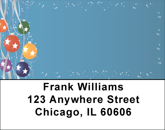 Holiday Ornaments Address Labels