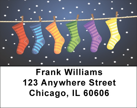 Holiday Stockings Address Labels