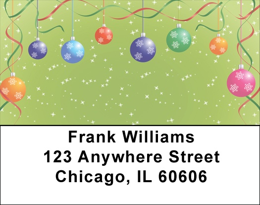Christmas Ornament Party Address Labels