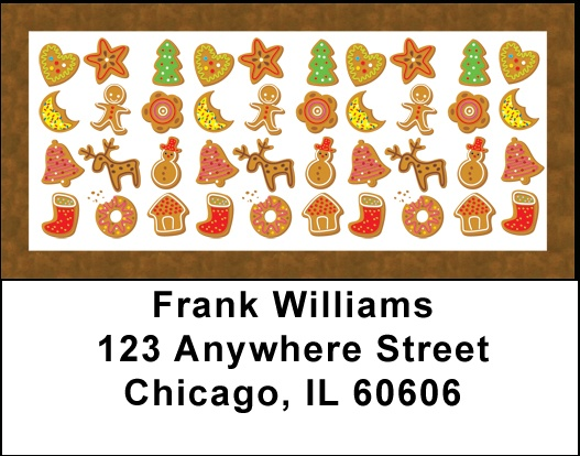 Gingerbread Cookies Address Labels