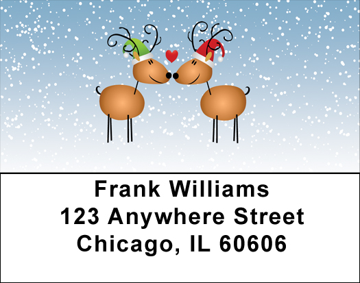 Reindeer Love Address Labels