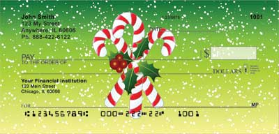 Christmas Candy Canes Personal Checks