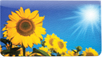 Sunflowers Leather Cover