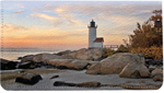 Lighthouses Leather Checkbook Cover