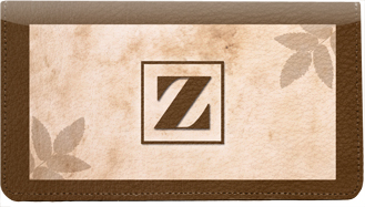 Monogram Z Leather Checkbook Cover