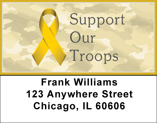 Support Our Troops Ribbon Return Address Labels