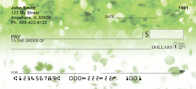 Falling Petals Personal Checks