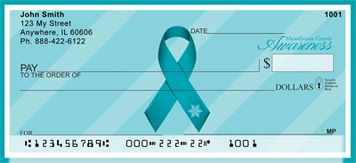 Myasthenia Gravis Teal Awareness Ribbon Checks
