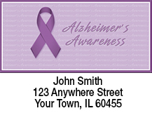 Alzheimer's Awareness Ribbon Address Labels