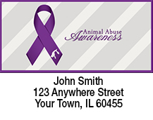 Animal Abuse Awareness Ribbon Address Labels
