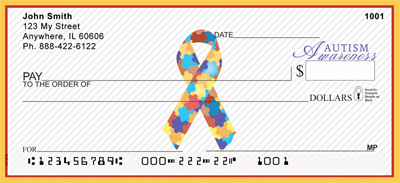 Autism Awareness Ribbon Personal Checks