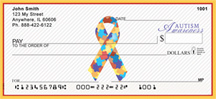 Autism Awareness Ribbon Personal Checks