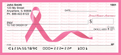 Breast Cancer Pink Ribbon and Border Checks