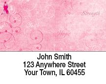 Inspirational Faith, Hope & Strength Pink Address Labels