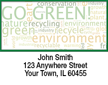 Go Green Environmental Awareness Address Labels