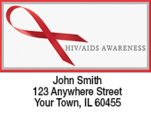 HIV/Aids Awareness Ribbon Address Labels
