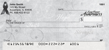 Lung Cancer Awareness Ribbon Personal Checks