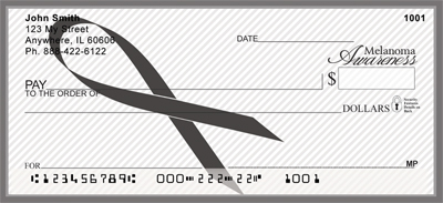 Melanoma Awareness Ribbon Personal Checks