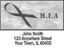 MIA Remembrance Ribbon Address Labels