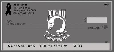 POW/MIA Remembrance Black Ribbon Checks