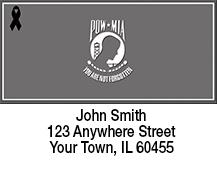 POW/MIA Remembrance Ribbon Address Labels